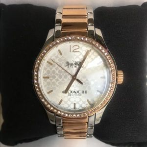 New Coach 14502660 W6183 Maddy Two tone lady Watch